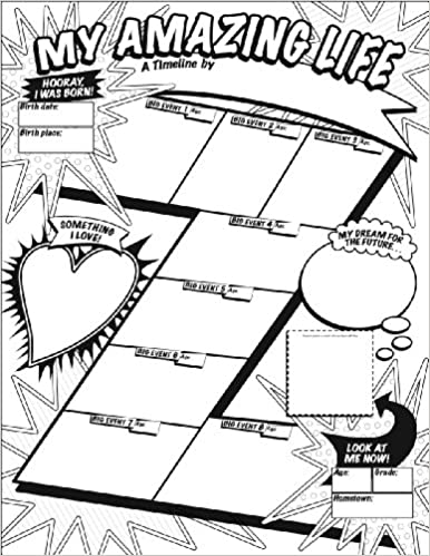 graphic organizer posters my timeline grades 3 6 30 fill in personal posters for students to display with pride liza charlesworth