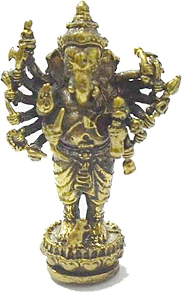 Jewelry Amulets Lord Ganesh Ganesha Lp Kloy Success Lucky Rich Om Ohm Blessing Pendant Necklace