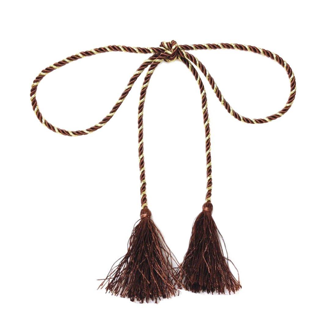 Rideau frange cravate fen/être d/écoration rideau gland corde tirants Bleu