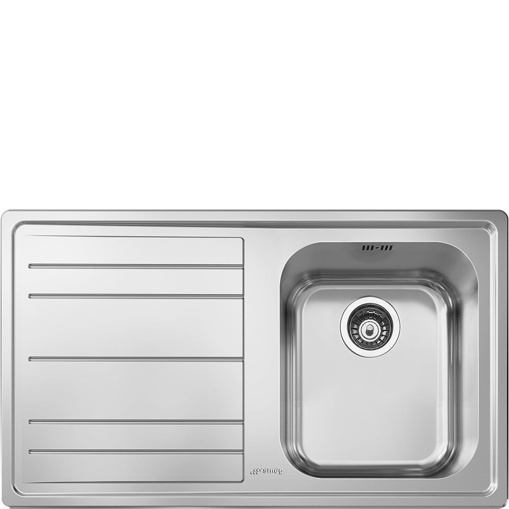 Smeg le861s-2 –  Sink Sink Countertop, Rectangular, Stainless Steel, Stainless Steel, 1 Breasts, 340 x 400 mm) 1Breasts 340x 400mm)