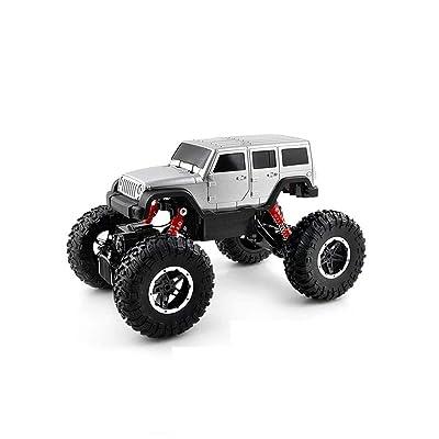 01:14 Version de charge de contrôle à distance sans fil Escalade 4WD voiture tout-terrain télécommandée Télécommande modèle de voiture (Color : Silver)