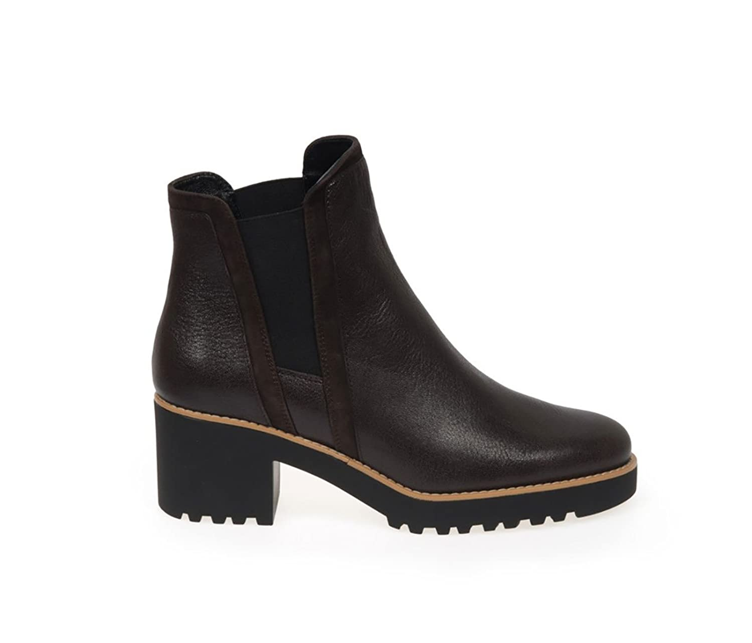HOGAN ANKLE BOOTS IN BROWN LEATHER WITH ZIP, Womens.
