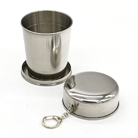 asentechuk® 240 ml acero inoxidable portable vaso plegable ...