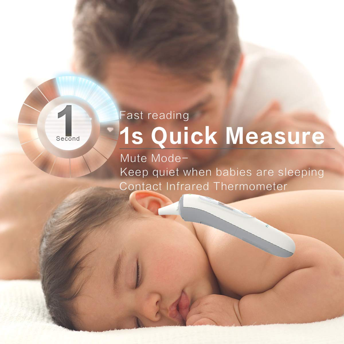 Digital Infrared Baby Thermometer, Firhealth Ear Forehead Object Room Professional 4 in 1, Accurate Fever Indicator Instant Read,Suitable for Baby, Adult, Object and Ambient, FDA CE Approved by FIRHEALTH (Image #4)