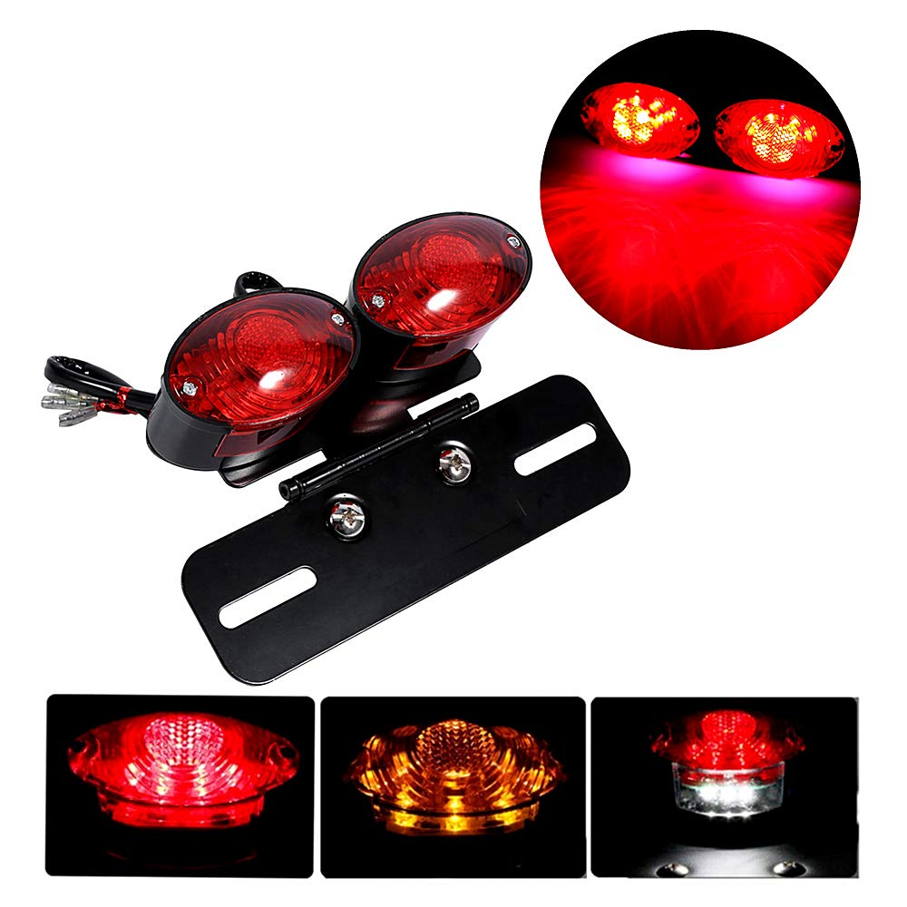 SFONIA Motorcycle 34LED Rear Lamp Brake Light Turn Signal Lights 12V Waterproof Turning Indicator Light Universal for Motorcycle Scooter Quad Cruiser Off Road