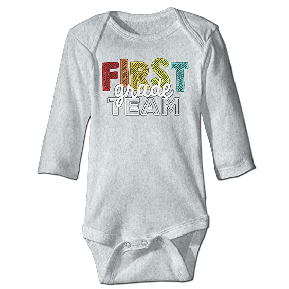 amazon com crystal moo first grade team baby bodysuit long sleeve