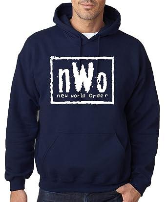 ae9bee025c98 NWO T SHIRT WRESTLING NEW WORLD ORDER White Mens Hoodies All Sizes Colours   Amazon.co.uk  Clothing