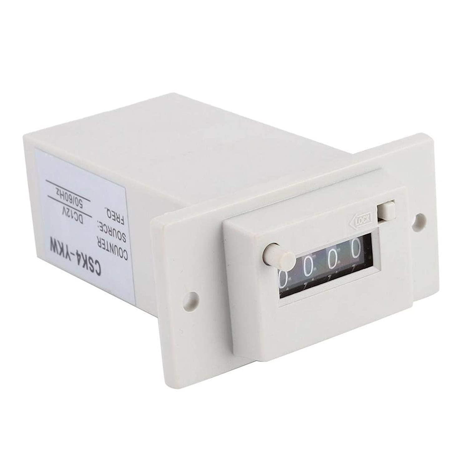 Boaby 4 Digits 0-9999 Industrial Totalizer Mechanical Electromagnetic Pulse Counter DC12V