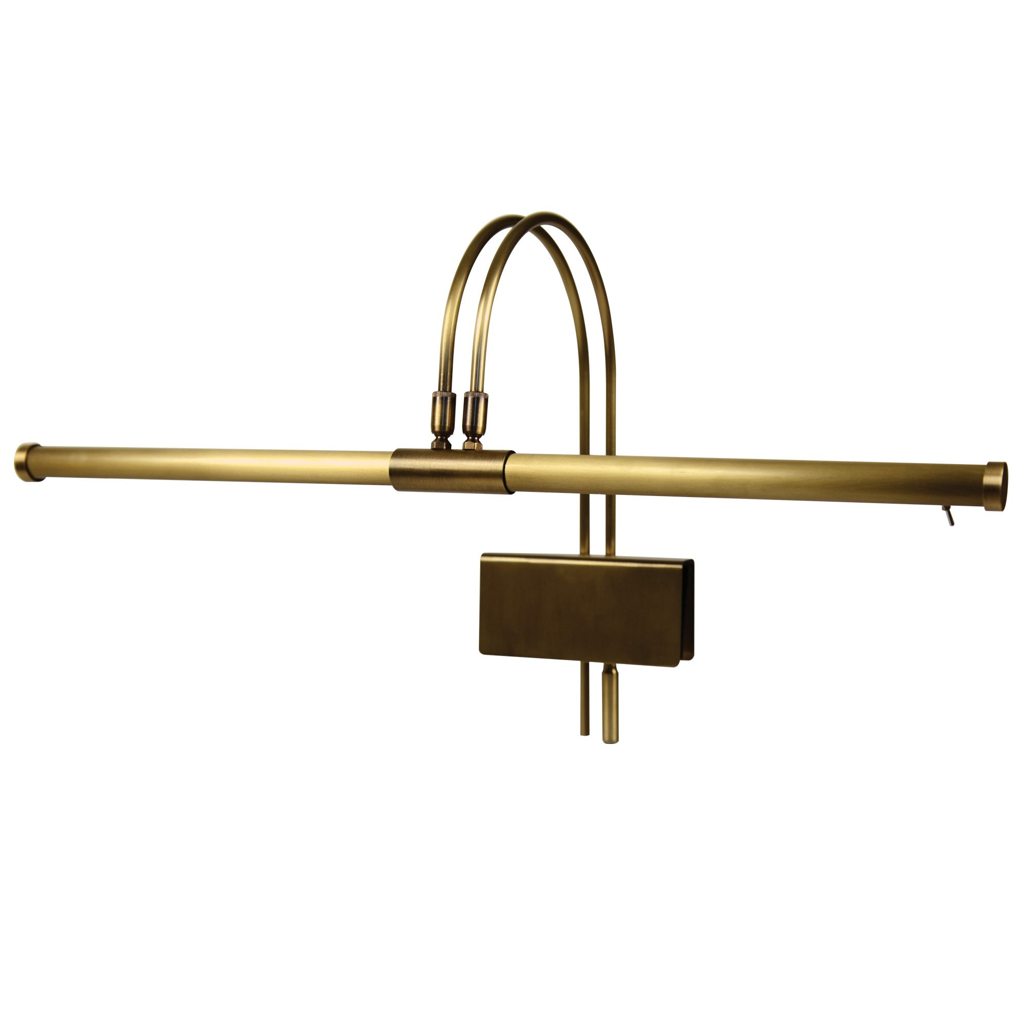 Cocoweb 22'' Grand Piano Lamp, LED, Adjustable, Quality Lighting in Antique Brass with Plug-in Adapter - GPLED22ABD