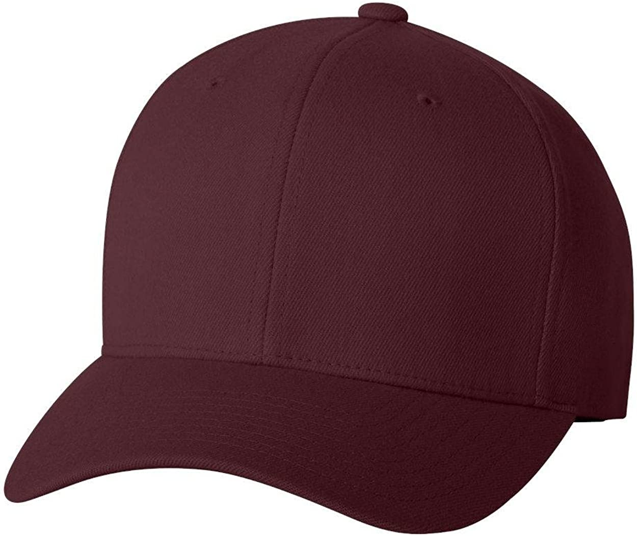 Flexfit Fitted Mid-Profile Structured Wool Cap Brown, Large//X-Large