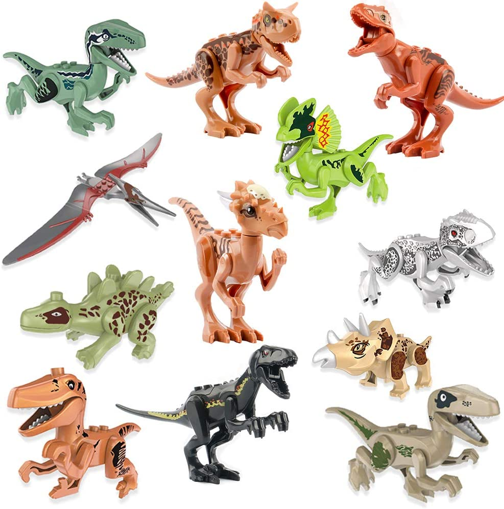 Jurassic Dinosaur Mini figures works Kids Toy for Collection