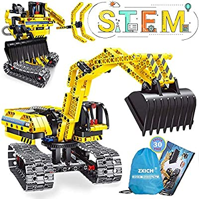 NOIHK Science Projects Kits for Kids,Building Excavator Sets for 7, 8, 9, 10 Year Old Boys & Girls, Construction Engineering Robot Toys for Kids Age 6-12, Educational STEM Toys Gifts for Kids