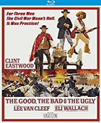 For three men the Civil War wasn t hell... it was practice! By far the most ambitious, unflinchingly graphic and stylistically influential western ever made, The Good, the Bad and the Ugly is a classic actioner shot through with a volatile mi...