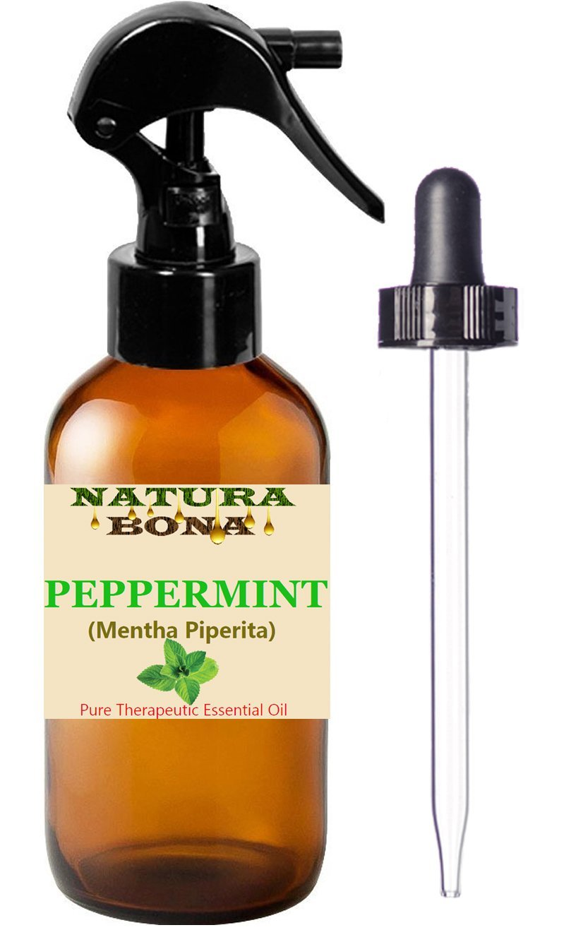 Pure Peppermint Organic Oil Spray. Premium Quality, Undiluted. Helps to Naturally Repel Ants, Spiders, Mice, Mosquitoes, Many Other Critters Invading Your Home. (4oz Dropper Bottle/Trigger Sprayer)
