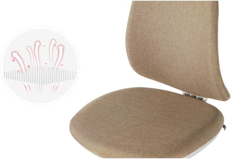 THBEIBEI kontorsstol svängbar stol spelstol datorstol uppgift skrivbordsstol inget armstöd fiskben konsol nylonpedal bärande vikt 200 kg 4 färger (färg: Brun) Mörkgrått