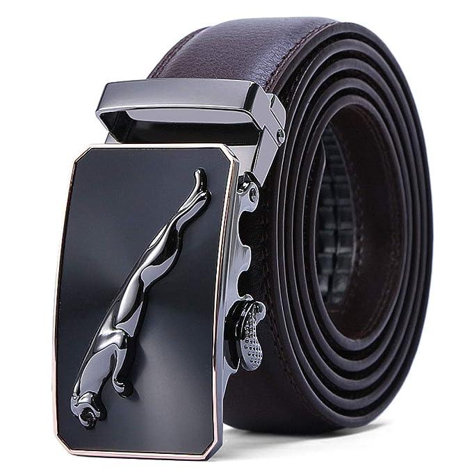Cinturón Hombre Cuero Genuino Jaguar Cinturones Piel con ...