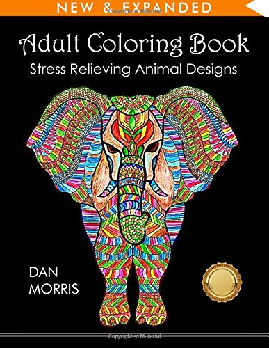 1. Adult Coloring Book: Stress Relieving Animal Designs