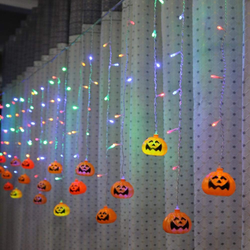 Halloween Pumpkin Hanging Lamp String Lights with 96 LED for Outdoor,Home,Patio,Garden Deco3.5m/11.48ft (Approx.)
