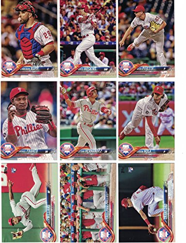 Philadelphia Phillies Trading Card Set - Philadelphia Phillies/Complete 2018 Topps Series 1 & 2 Baseball 21 Card Team Set! Includes 25 bonus Phillies Cards!