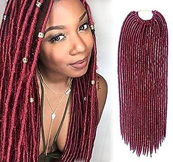 Amazon Com Yrenrea Hair Faux Locs Crochet Synthetic 22 6
