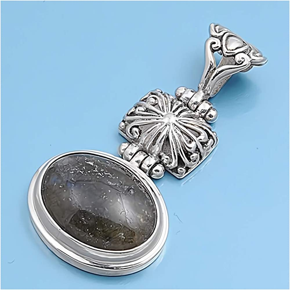 Glitzs Jewels 925 Sterling Silver Pendant with Stone in Gift Box