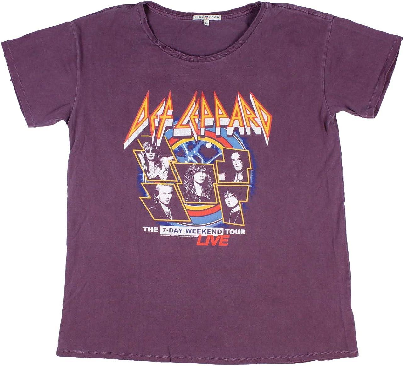 Junk Food Women's Def Leppard Vintage 7-Day Weekend Tour Band T-Shirt