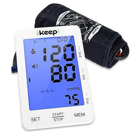 Ikeepi Tensiómetro de Brazo Automáticos y Detector de Arritmia para Dos Usuarios (2 x 90