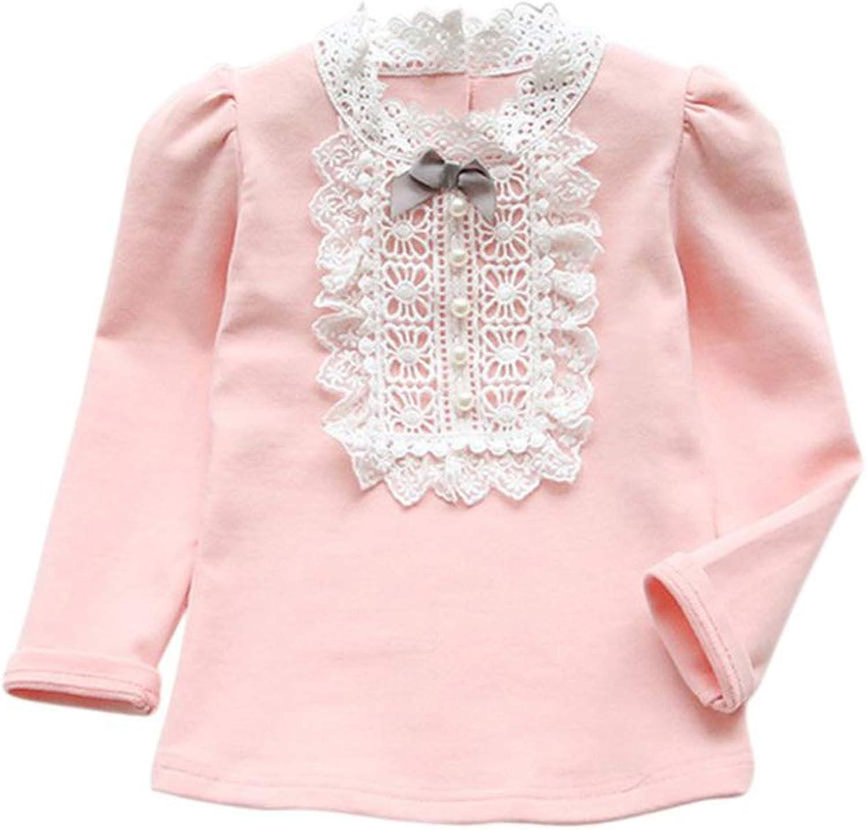 ECROZS Girls T Shirts Spring Autumn Toddler Baby Bowknot Shirt Long Sleeve Princess Ruffle Tops