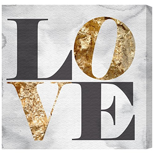 Build on Love Stone by Oliver Gal | chic  metallic Canvas Art Print.