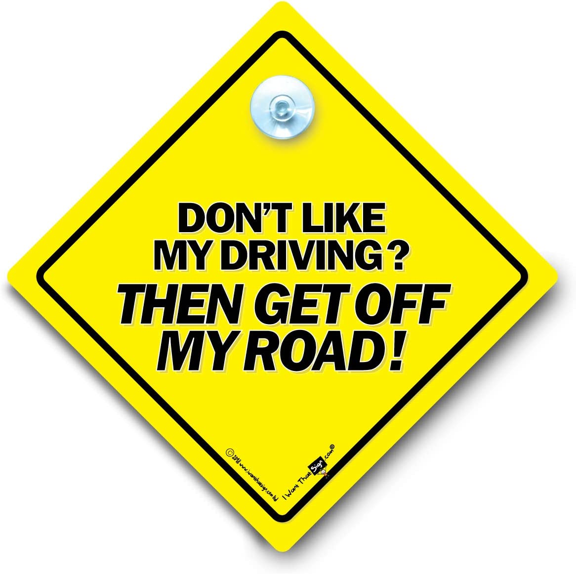 Do Not Tailgate Vehicle Sign Yellow and Black Anti Tailgate Sign with Rubber Suction Cup Dont Tailgate Car Sign
