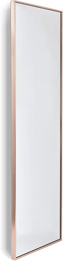 Home Selections Rose Gold Large Metal Framed Long Full Length Wall Mirror 40x120cm Amazon Co Uk Kitchen Home