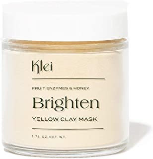 product image for Klei Fruit Enzymes & Honey Brighten Yellow Clay Mask | Brighten and Exfoliate Dull Skin | Natural and Cruelty-Free