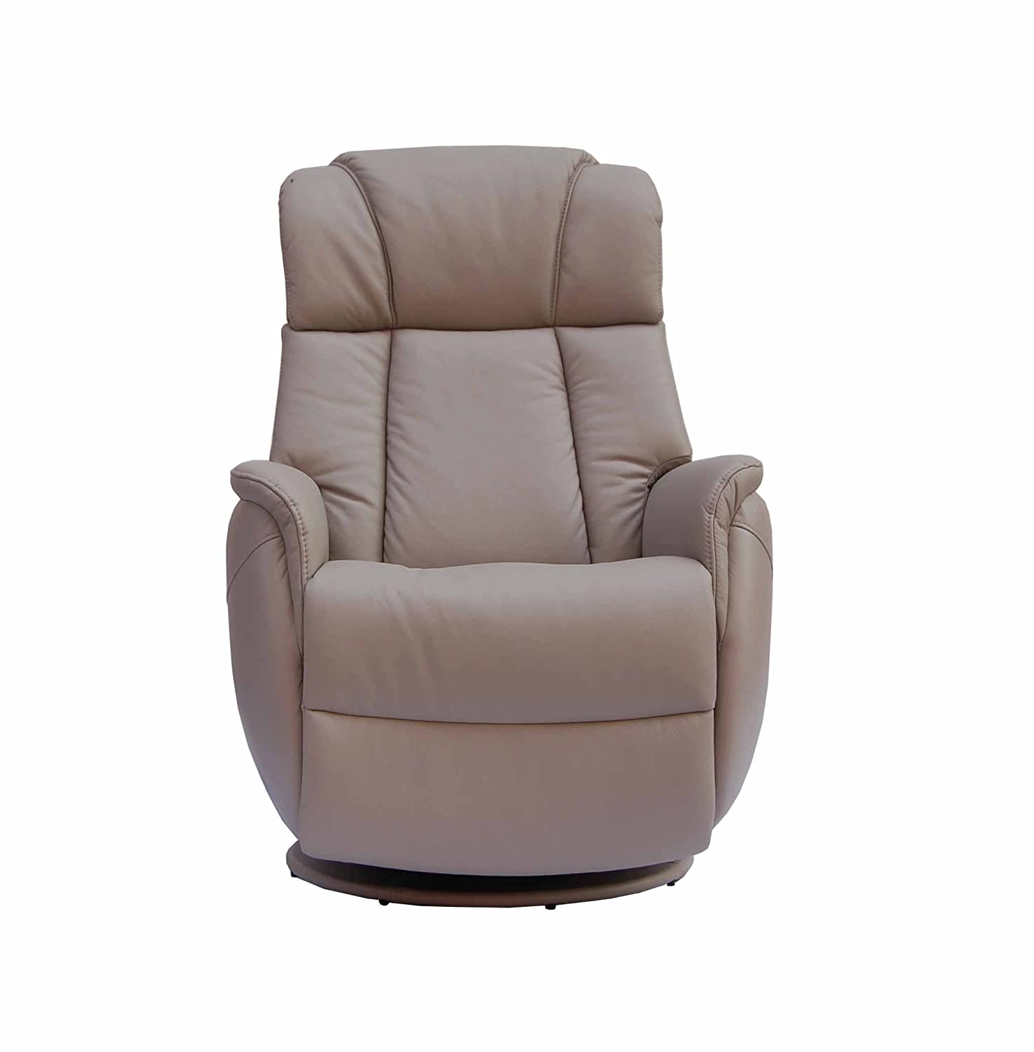 The Sorrento Real Leather Swivel Rocker Recliner Pebble Amazon