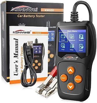 Globalqi Kw600 Batterietester Mit Lcd Bildschirm Universelles 12v Auto Motorrad Batterie Detektor Auto