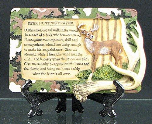 Beauty Angel Plaque (VoojoStore Deer Hunters Prayer Plaque - Vintage figurine antique shape story - Unique Gift For Birthday Christmas Wedding Anniversary Engagement)
