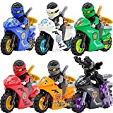 ninjago ninja db x - 6 Sets Phantom Minifigures JAY COLE Motorcycle Toy Chariot Blocks CE