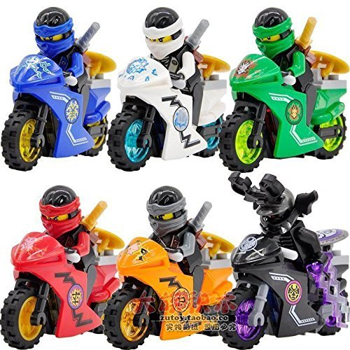 6 Sets Phantom Minifigures JAY COLE Motorcycle Toy Chariot Blocks (Nindroid Costume)