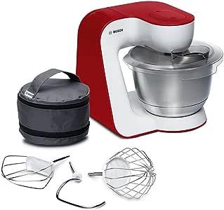 Bosch MUM5 StartLine MUM54R00 - Robot de cocina (3,9 L, Rojo, Blanco, Operación, Acero inoxidable, 900 W, DVD): Amazon.es: Hogar