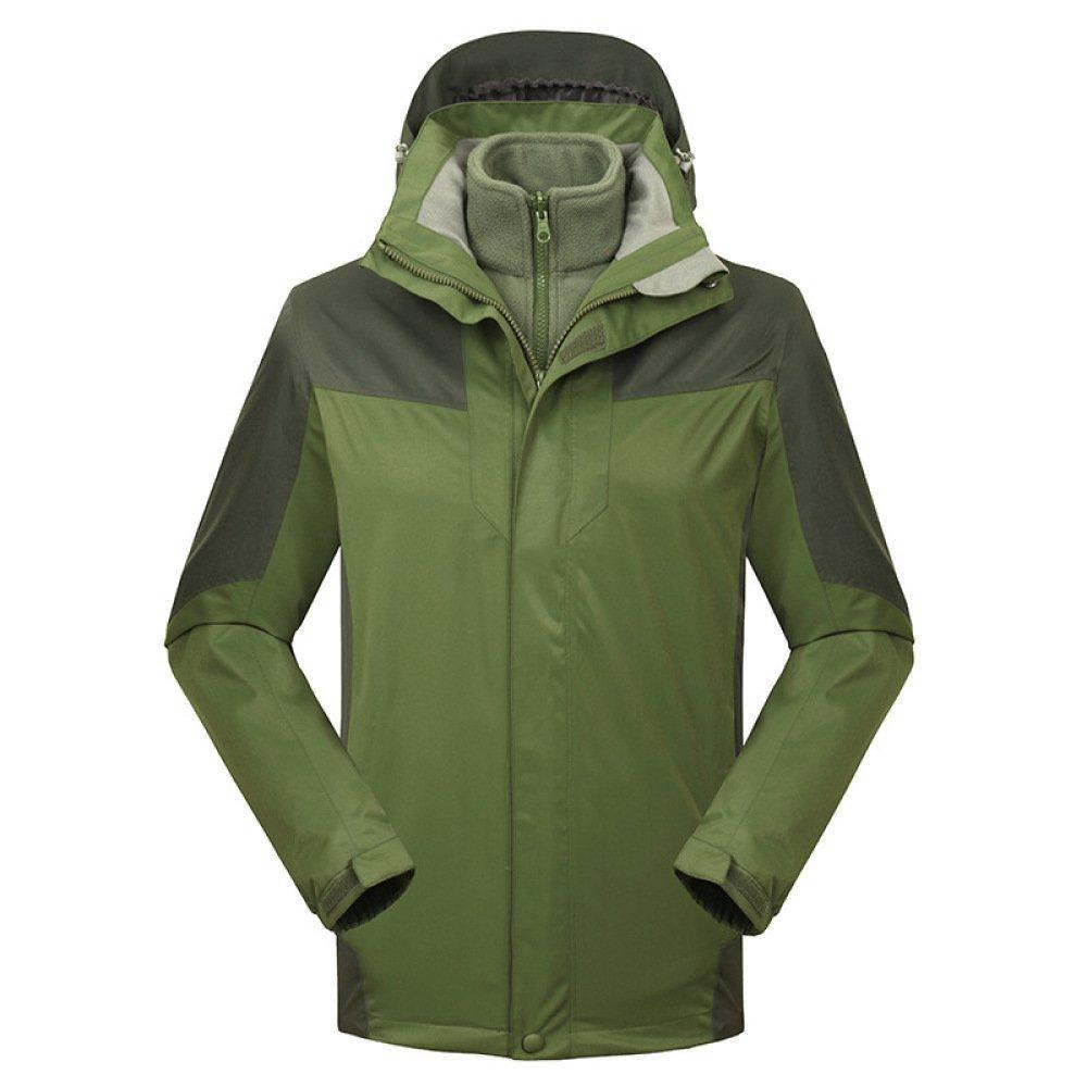 vert XL Veste Impermeable 3 en 1 Imperméable Sportswear de plein air encapuchonné Chasse Tir Pêche Equitation Mountaineer Vestes De Voyage