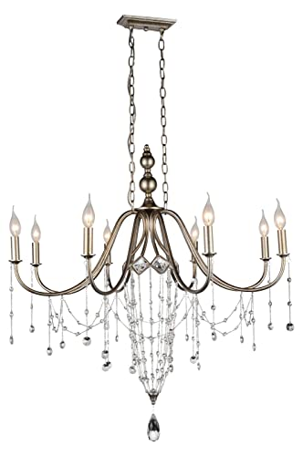 Amazon.com: 8 lámparas de araña con acabado de níquel: Home ...