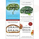 Grain brain whole life plan, brain maker, grain brain cook book 4 books collection set by david perlmutter