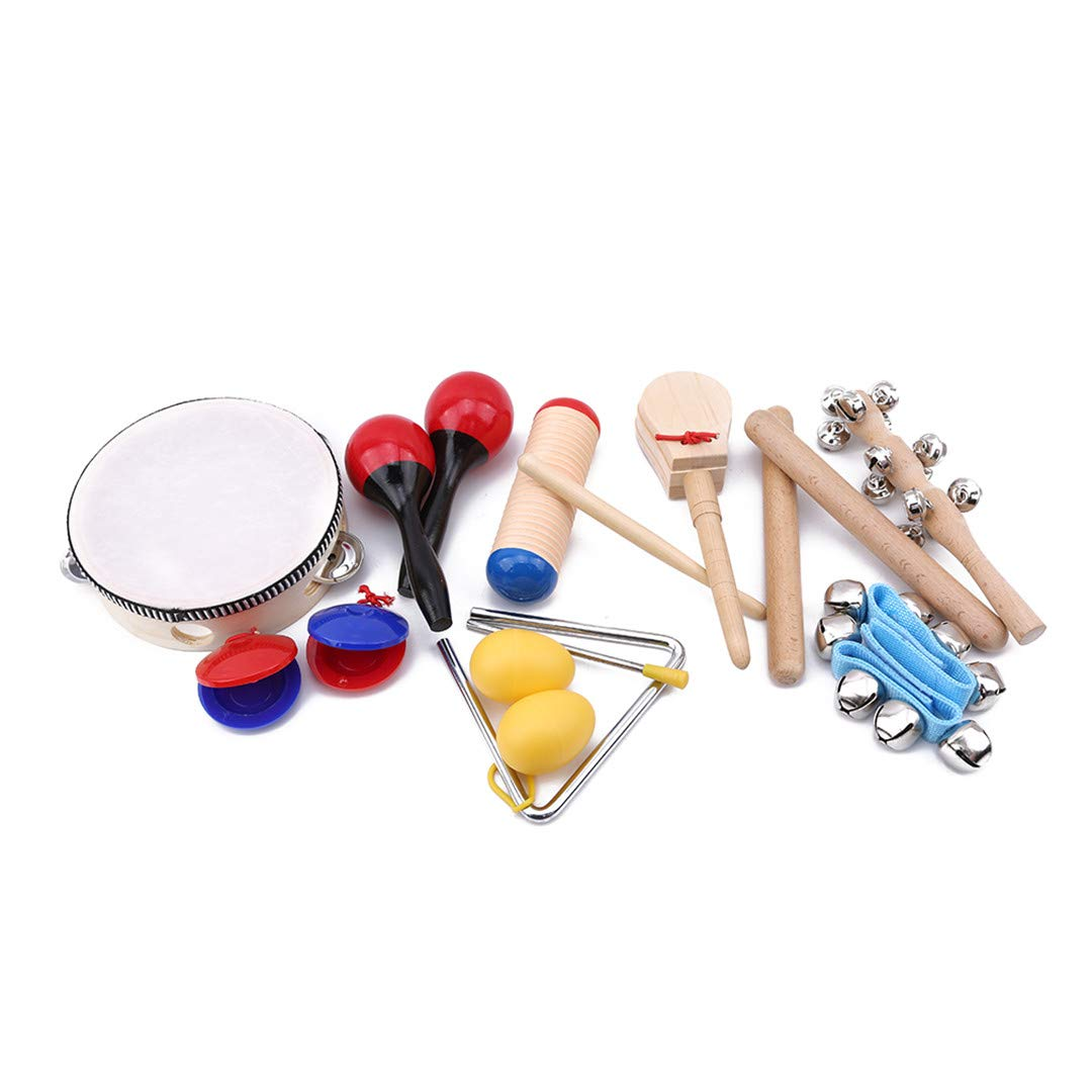 Brain Teasers Games Faliya 10Pcs/set Musical Instruments Set Wooden