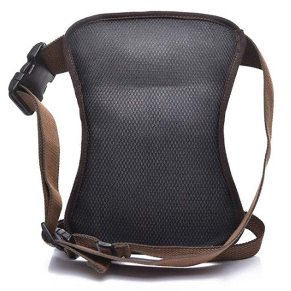 RANRANHOME Canvas Waist Pack Tactical Fanny Pack Motorcycle Drop Leg Bag Thigh Bags Waterproof Waist Bag for Hiking