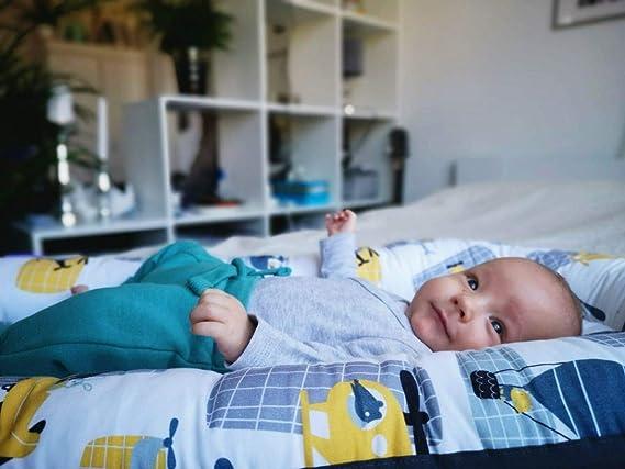 2 c/ôt/és couverture douillette 100/% coton matelas tour de lit pour b/éb/é coussin dallaitement lit de voyage JUKKI Baby Minky Kit de premier choix 5 pi/èces : nid b/éb/é 50 x 70 cm coussin