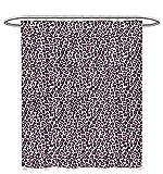 Pink Leopard Print Shower Curtain Leopard Print Shower Curtains Shower Hooks Pink Black Colored Girlish Pattern Safari Savannah Wildlife Theme Satin Fabric Bathroom Washable W60 x L72 Pink Black White