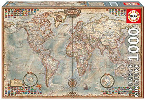 Educa MINIATURE 1000 PIECE POLITICAL MAP OF THE WORLD 1000PC Puzzle