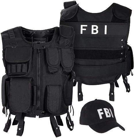 Black Snake® Traje de Carnaval SWAT FBI Police Security Disfraz de ...