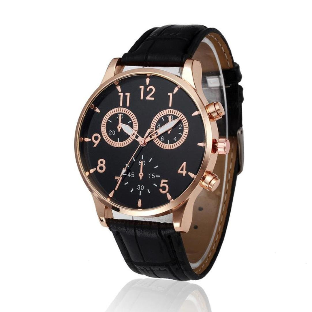 Becoler Leather Band Fashion Wrist Watch for Mens