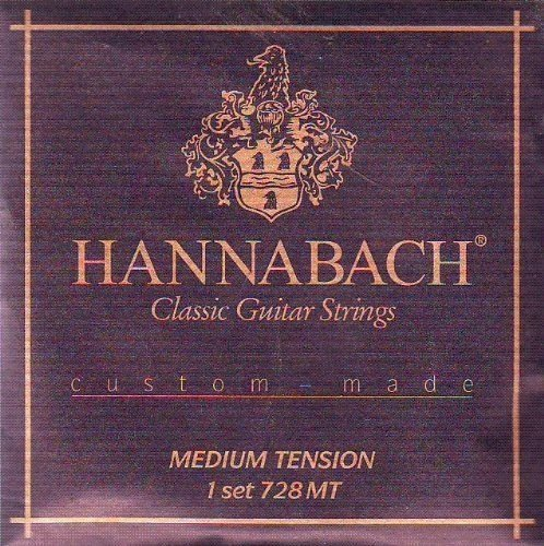 Hannabach Classical Guitar Medium Tension Nylon/Silver, 7...