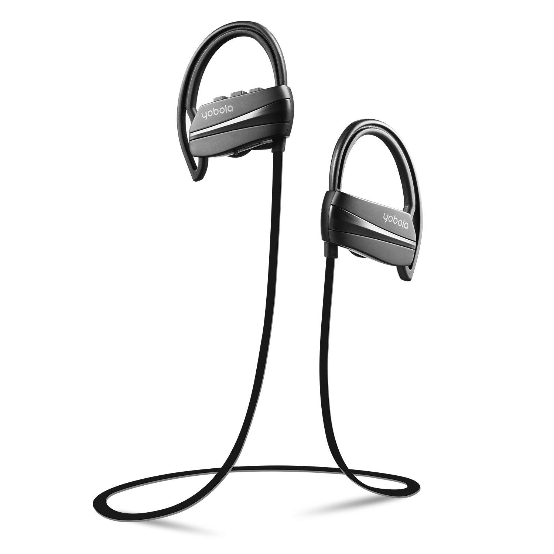 yobola Best Long Standby - Auriculares inalámbricos deportivos con Bluetooth, resistentes al sudor, para correr con cancelación de ruido, con micrófono, ...